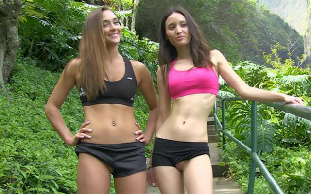 FTV Girls  Mary and Aubrey Hike in Hawaii