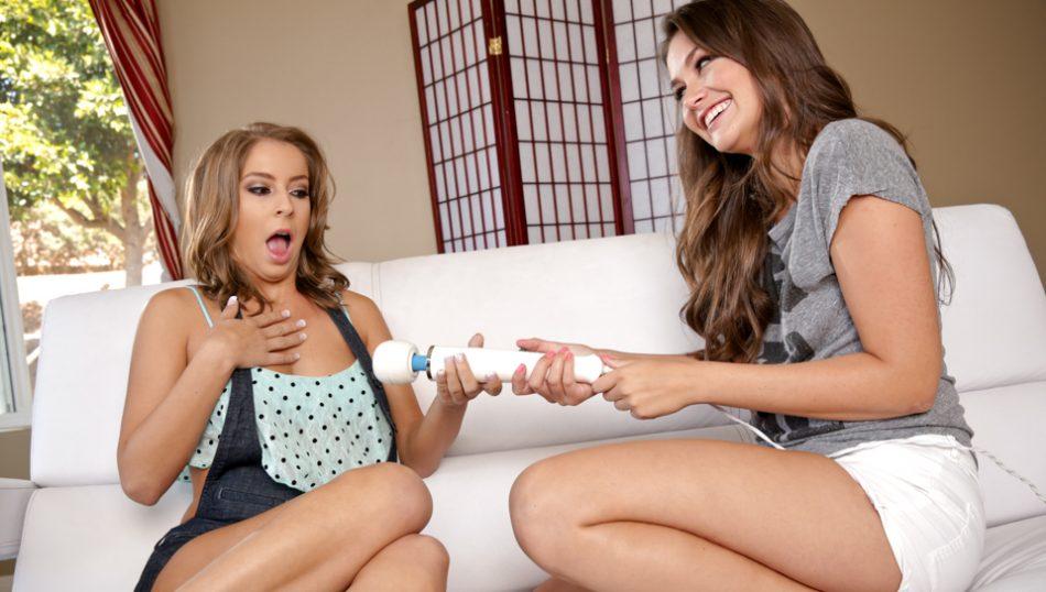 Mature women seduces teen girl