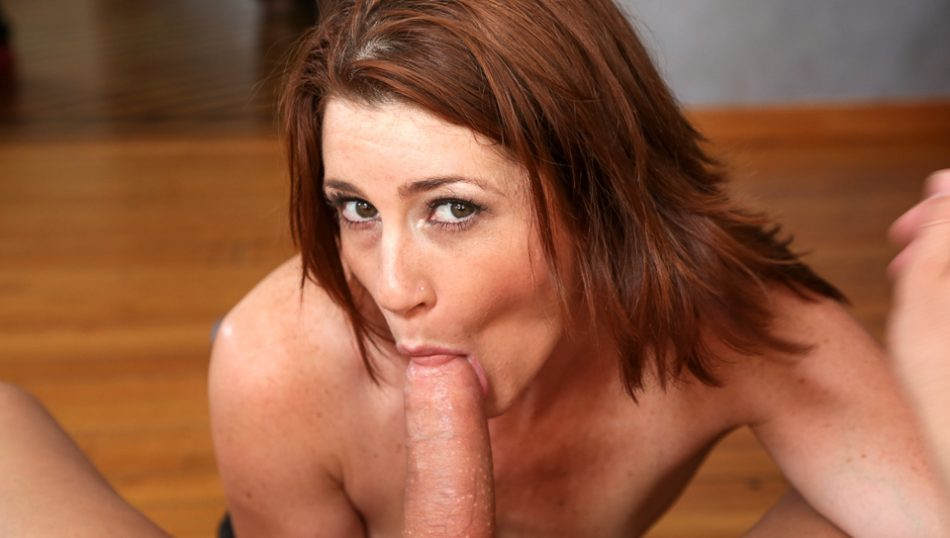 Redhead milf Cici Rhodes wants to suck the plumber!