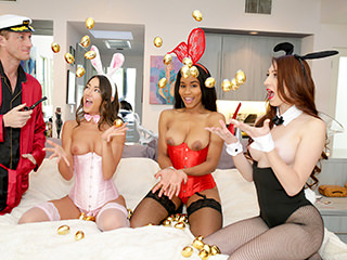 Lily Adams, Jenna Foxx, and Nina Skye - Easter Egg Cunt